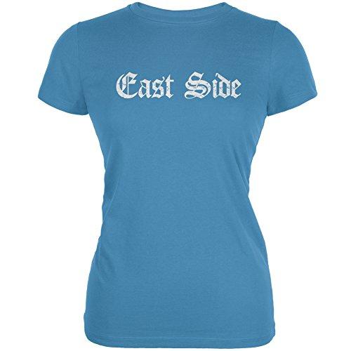 East Side Aqua Juniors Soft T-Shirt - Large