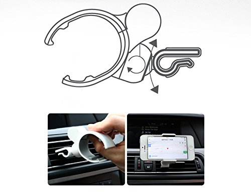 White Xenomix Grab SHG-P5000 Smartphone Car Air Vent Type Mount Cradle Holder