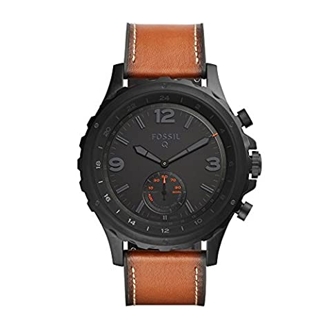 Fossil Q Nate Gen 2 Men's Brown Leather Hybrid Smartwatch FTW1114 (Fossil Watchs Nate)