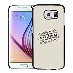 Fashionable Custom Designed Samsung Galaxy S6 Phone Case With Wishing You A Merry Christmas And Happy New Year_Black Phone Case