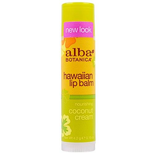 Alba Botanica Scented Sunscreen - Alba Botanica, Hawaiian Lip Balm, Nourishing Coconut Cream, .15 oz (4.2 g) - 2pc