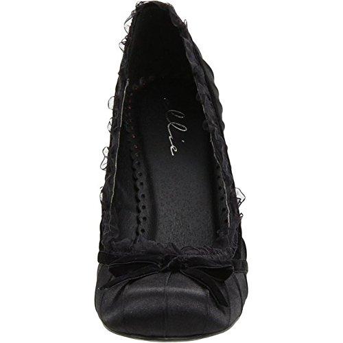 Ellie Chaussures Femme 406-doll Satin Pump Black