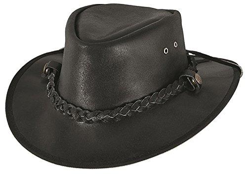 Montecarlo Bullhide Hats CESSNOCK Leather Western Cowboy Hat (Genuine Leather Cowboy Hat)
