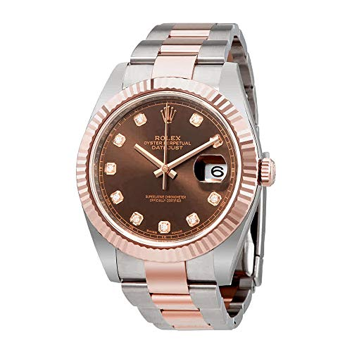 Rolex Datejust 41 Chocolate Diamond Dial Steel and 18K Everose Gold Oyster Mens Watch 126331CHDO from Rolex