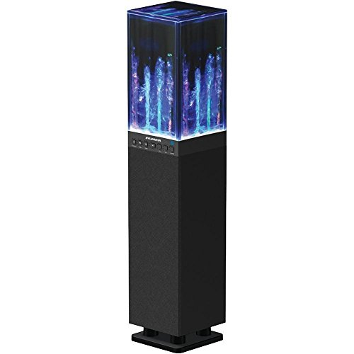 Read About Sylvania SP118-BLACK Water Dancing Bluetooth Mini Tower Speaker