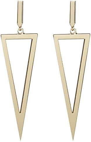 LILIE&WHITE Metal Triangle Dangle Drop Earrings For Women Costume Jewelry
