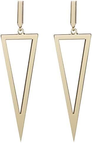 LILIE&WHITE Metal Triangle Dangle Drop Earrings For Women Costume Jewelry
