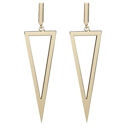 LILIE&WHITE Women Geometric Triangle Shape Drop Earrings Gold