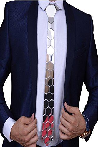 Visach Designer Hex Tie Silver Buy Online In Uae Apparel Products In The Uae See Prices