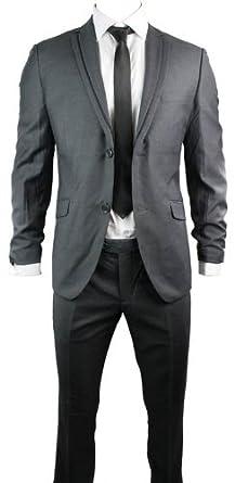 Señor Traje Gris Negro elegir la chaqueta y pantalón Office Fiesta ...