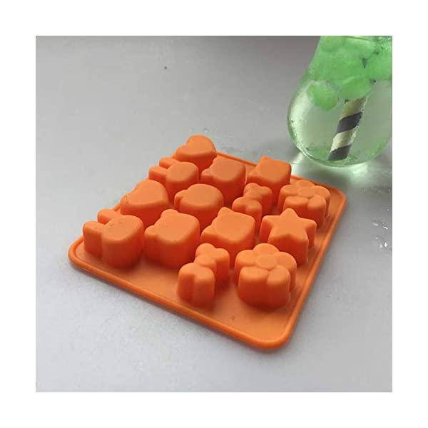 Hosaire - Stampo in silicone per torte, biscotti, gelati, pasticceria, cioccolato, fondente, 3D, a forma di coniglio e… 6 spesavip