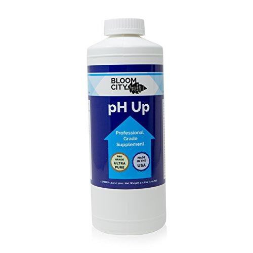 Bloom City Professional pH Up Liquid Fertilizer, Quart (32 oz)