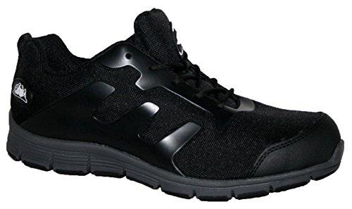 Ladies bases puntera de acero seguridad trabajo entrenador zapatos de encaje ultra ligera, color multicolor, talla 42