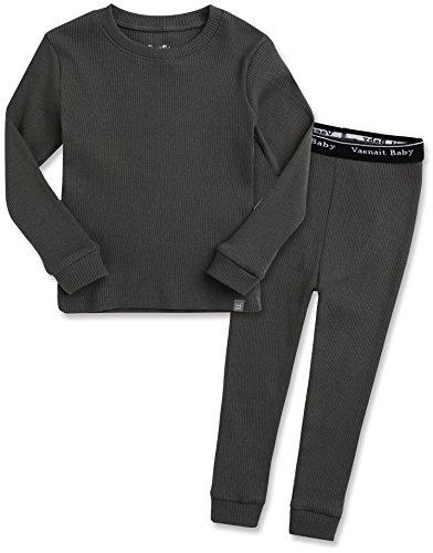 Vaenait Baby Kids Boys 100% Cotton Sleepwear Pajamas 2pcs Set Rib Chacoal XL