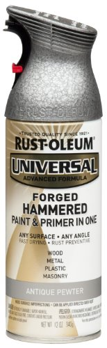 iversal All Surface Spray Paint, 12 oz, Forged Hammered Antique Pewter (Hammered Surface)