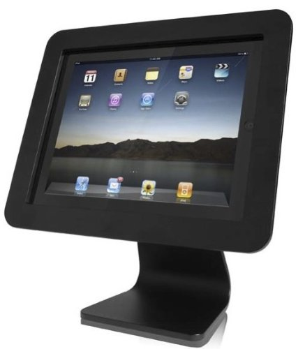 Compulocks AIO-B iPad Secure Executive Enclosure with Rotating 360˚ Kiosk Black - Stand - for Tablet