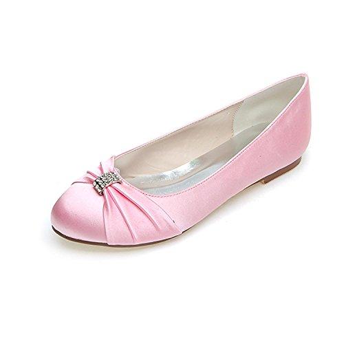 9872 L De Otoño Ocio Pink Las 06 Mujeres Verano Primavera Boda Raso yc Fiesta Planos Invierno Noche Y Zapatos v11Ywrpq