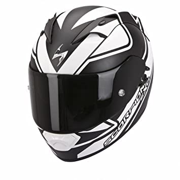 CASCO DE MOTO SCORPION EXO 1200 AIR FREEWAY NEGRO/BLANCO + VISERA NEGRA DE REGALO