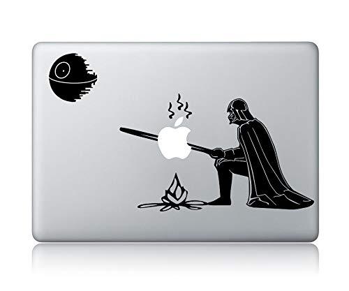 Darth Vader Grilled Apple Star Wars - Laptop Apple Macbook Vinyl Sticker Decal