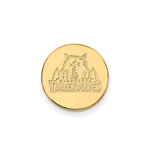NBA Minnesota Timberwolves Lapel Pin in 14K Yellow Gold by LogoArt