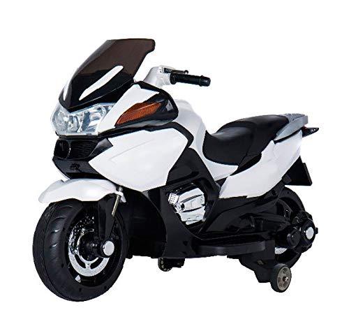 Moto eléctrica para niños de 12v, estilo BMW R 1200RT de Babycoches, ruedines desmontables, neumaticos caucho, asiento polipiel, equipo audio, ...
