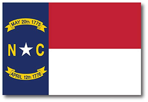North Carolina Car Magnet US State Flag Refrigerator Locker SUV Heavy Duty Waterproof…