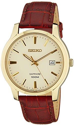 Seiko Herren-Armbanduhr Analog Quarz Leder SGEH44P1