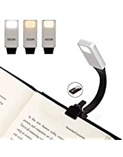 LED Reading Light, Relime Upgraded USB Rechargeable Book Light 50 Lumens 3 Brightness Super-light Reading Lamp with Clip for Amazon Kindle / eBook Reader / Books / iPad etc