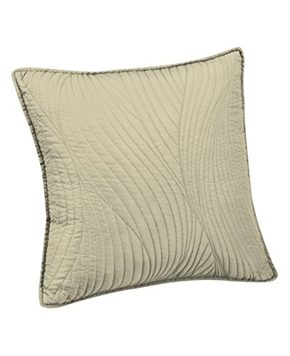 Brielle Stream Embroidered Euro Sham, Ivory