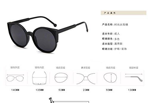 brillante Ojos Moda Bright gato sol sol color gold de ultra black ligero LSHGYJ de de de gafas sol gafas de GLSYJ retro gafas ExR5awIq