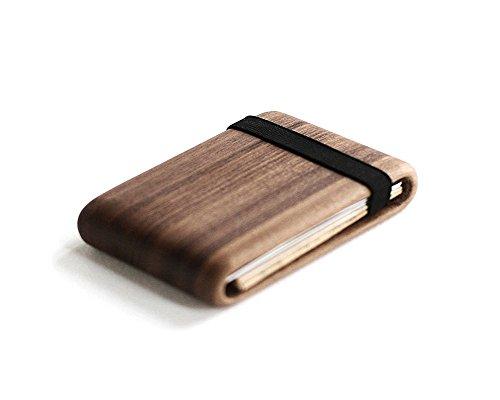 Wood Wallet, Walnut Wood w/ Elastic Band by Haydanhuya