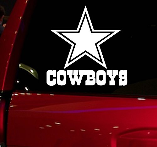 AUTO - STICKER - NFL - FOOTBALL - DALLAS COWBOYS - DECAL - FOR - CAR - TRUCK - WINDOW - SUV - COOLER - MOTORCYCLE - HELMET - HARDHAT - NOTEBOOK - FOLDER - MACBOOK - COMPUTER (COWBOYS)