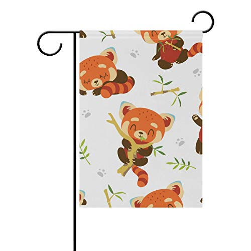 Chic Houses Lovely Raccoon Q Version Cartoon Animal Pattern Seriess Outdoor Garden Flags Personality Design Vertical Double Sided Home Decorative House Yard Sign 12 x 18 Inch 2030579
