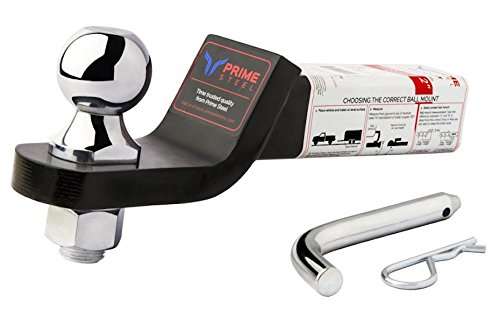 with Pin and Clip - Black-Chrome Prime Steel 18122 Black-Chrome Ready to Tow 2 Drop Ball Mount