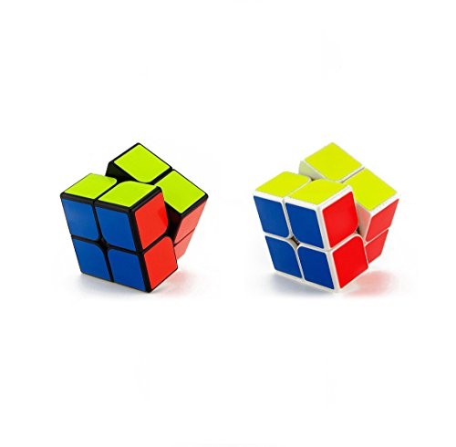 Acmer 2x2 Speed Cube Set [2 Pack], Eco-Friendly Plastics and Vivid Colors 2x2 Puzzle Cube, Pack Game Brain teasers as Toys Gift - Pack Puzzle 2