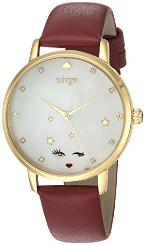 kate spade new york Women's 'Metro' Quartz Stainless Steel and Leather Casual Watch, Color:Red (Model: KSW1189) by Kate Spade New York