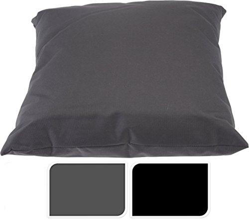 Outdoor Kissen 40x40 cm - in schwarz - Kissen für draußen - Wasserdicht - Für Lounge, Sitzecke, Liege etc.