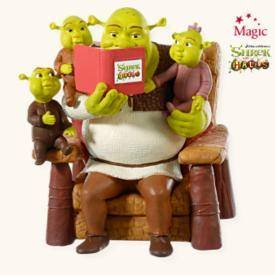 A Nice Family Christmas 2008 Hallmark Ornament Shrek the - Hall Family Ornament