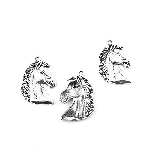 Price per Lot 180 PCS Jewelry Making Charms Antique Silver Tone Color Jewellery Charme Findingss Bulk Wholesale Suppliers Arts Crafts T3VA6 Horse Head