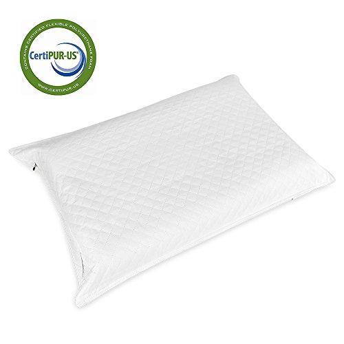 Hokonui Memory Foam Contour Pillow, Washable Organic Cotton