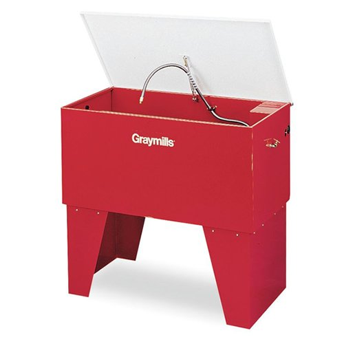 - Graymills PL422-A Leg Mounted Solvent Parts Washer, 115V, 1 Phase, Red