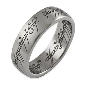 El Señor de los Anillos Lord of the Rings - 1001 - 060 - Anillo unisex de acero inoxidable anillo mujer barato woman cheap ring