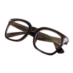 RETRO Designer Style Oversized Thick Frame Clear Lens Eyeglasses BLACK