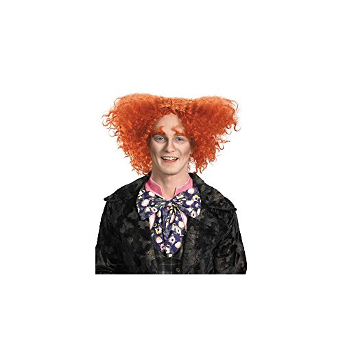 Disguise Men's Mad Hatter Costume Wig,Multi,One Size- Adult (Men Mad Hatter Costume)