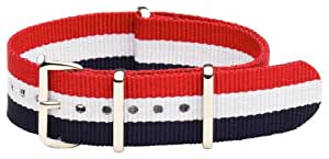 Clockwork Synergy® Classic NATO - 20mm Red / White / Blue Nylon NATO Watch Strap Band