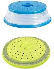 2 Stuks Magnetron Deksel, Kunststof Magnetronafdekking,Opvouwbare Magnetronhoes, Geschikt voor Magnetron, Voorkom Dat Voedsel Uitdroogt (Ttwee Kleuren)
