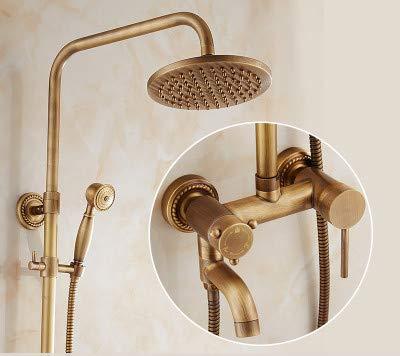 A2) Hlluya Professional Sink Mixer Tap Kitchen Faucet Antique Shower Faucet Kit Full brass faucets bathroom rain shower sprinkler retro shower,C2