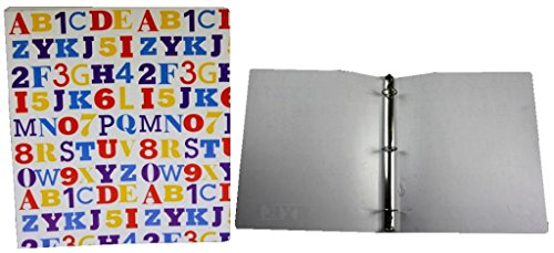 1 INCH POLY BINDER WITH ABC 123 DESIGN 48 pcs sku# 1860850MA by A+Homework