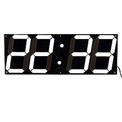 Large Modern Design Digital LED Wall Clocks Big Creative Vintage Watch Home Decoration Decor 3D Gift Black&White