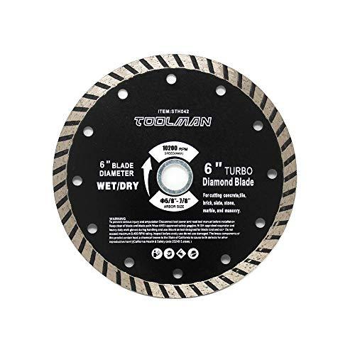 (Toolman Circular Saw Blade Diamond Blade Universal Fit 6
